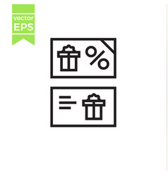 Gift card line icon outline sign linear vector