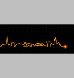 Glasgow light streak skyline vector
