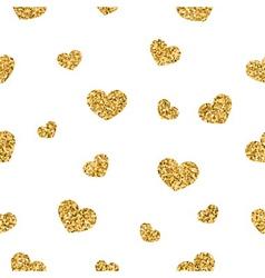 Golden hearts seamless pattern 1 white vector