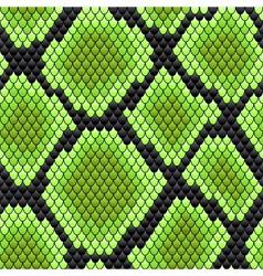 Green seamless pattern reptile skin vector