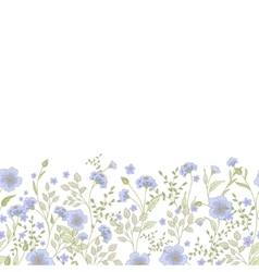Horizontal seamless border with cute little vector image