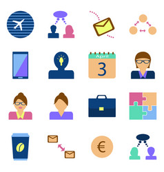 Icon set benefit symbols of the concept of vector