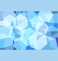 light blue hexagon abstract background vector image