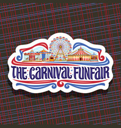 Logo for carnival funfair vector