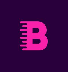 logo letter b speed vector image