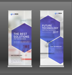 Medical roll up banner design layout vector