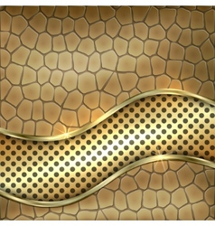 Metallic gold leather decorative background vector