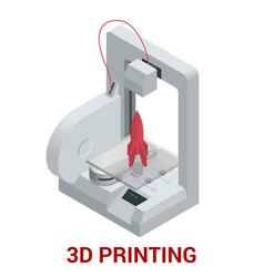 New generation of 3d printing machine printing vector