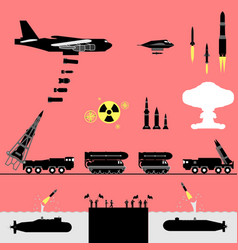 nuclear war alert pictogram vector image