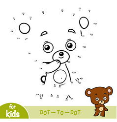 Numbers game education game for children bear vector