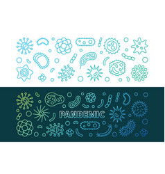 pandemic concept colorful outline banners vector image