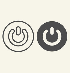 power button line and glyph icon switch vector image