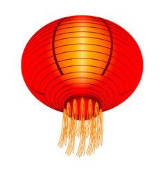 red china lantern icon isometric style vector image