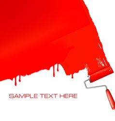 Roller painting vector