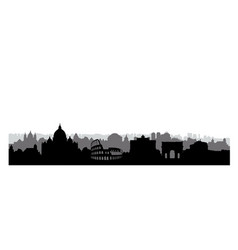 Rome city buildings silhouette italian urban vector