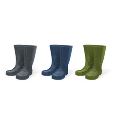 rubber boots set vector image
