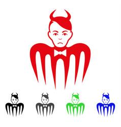 sad devil spectre icon vector image