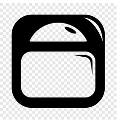 Scale icon simple black style vector