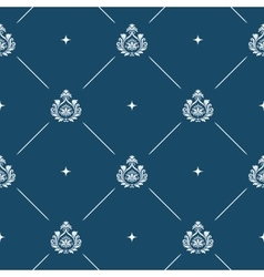 Seamless pattern background baroque vector image