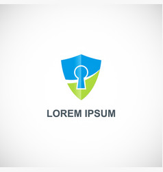 shield secure company logo vector image