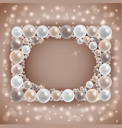 Shiny pearl frame vector