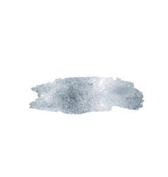 silver glitter foil brush stroke argent vector image