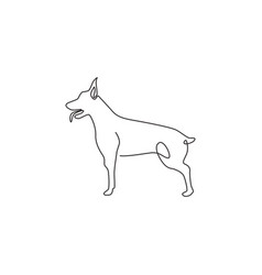 single continuous line drawing dashing vector image