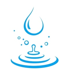 splash of water droplet vector image