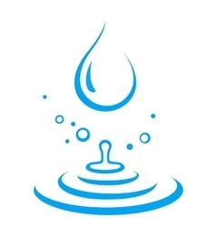 Splash water droplet vector