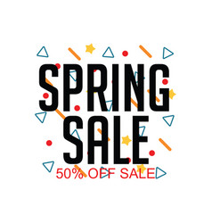 Spring sale 50 off sale template design vector