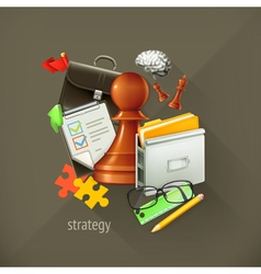 Strategy choice infographic vector image