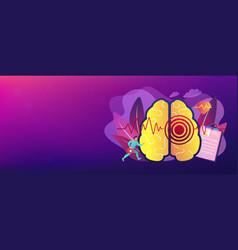 Stroke concept banner header vector