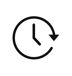 time icon in modern design style for web site and vector image