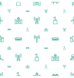 Tower icons pattern seamless white background vector