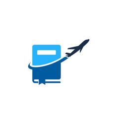 travel book logo icon design vector image