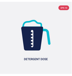 Two color detergent dose icon from hygiene vector