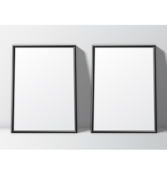 Two White Poster Templates vector
