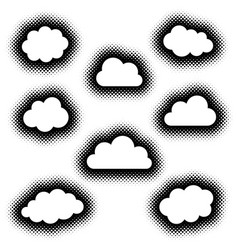 various creative clouds icons collection vector image