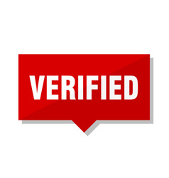 verified red tag vector image