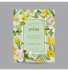 Vintage Floral Colorful Frame - for Invitation vector image