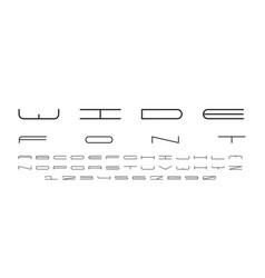 Wide font alphabet vector