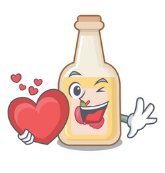 With heart apple cider in character shape vector