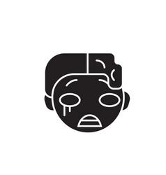 zomby emoji black concept icon zomby emoji vector image