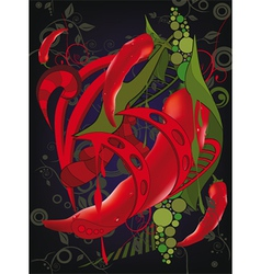 Abstract background with red Chilean pepper vector image vector image