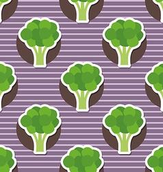 broccoli pattern Seamless texture vector image