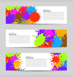 colorful banner design vector image