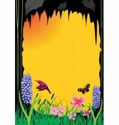 flower background orange vector image vector image