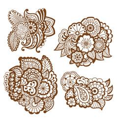 Mehndi design patterns vector