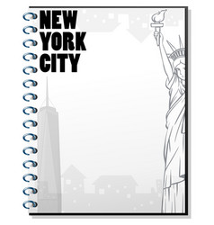 paper template with new york theme vector image vector image