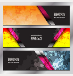 abstract banner design vector image